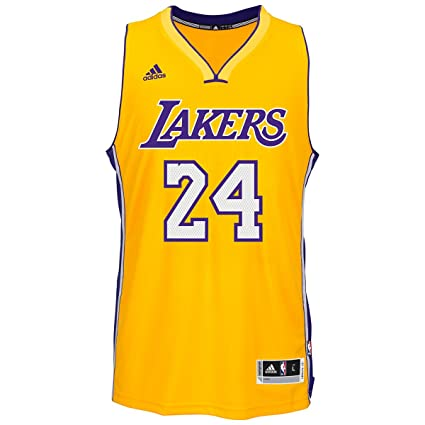 size 40 725b0 7e821 NBA Men's Los Angeles Lakers Kobe Bryant #24 Climacool Gold Swingman Jersey  7470