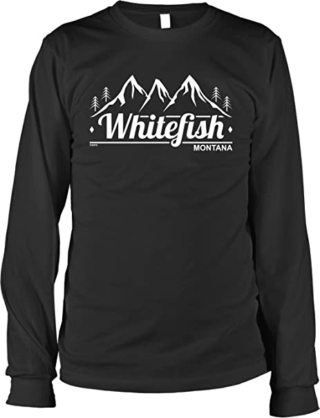 Amazon Com Nofo Clothing Co Whitefish Montana Men S Long Sleeve