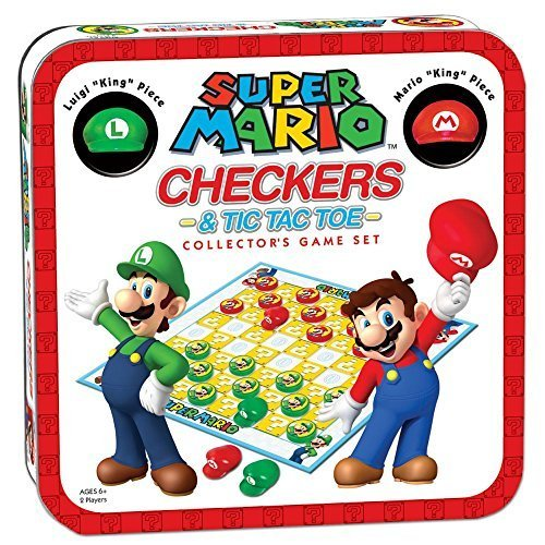 Super Mario Checkers &Amp; Tic-tac-toe Collector's Game Set