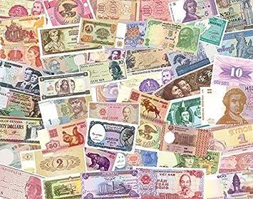 IMPACTO COLECCIONABLES Billetes del Mundo, 100 Billetes Diferentes de 36 Países Distintos: Amazon.es: Juguetes y juegos