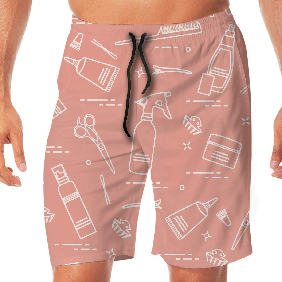 BEAQ45 Hairdressing Service Beach Shorts Mens Summer Quick Dry Printing Boardshort