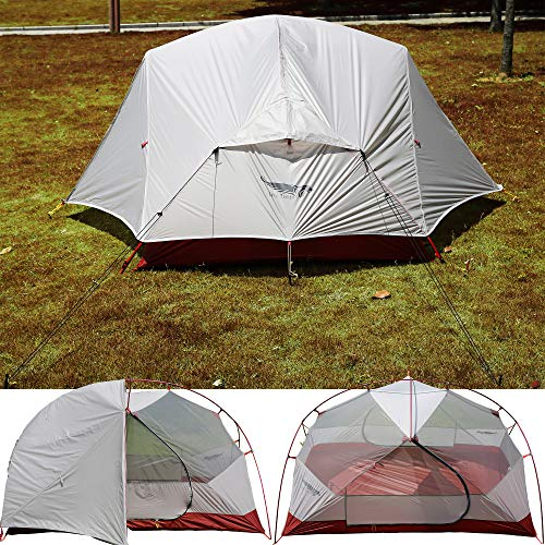 Luxe Tempo Ultralight 2 Person Tent 3.5LB Dome Backpacking Tent Silnylon