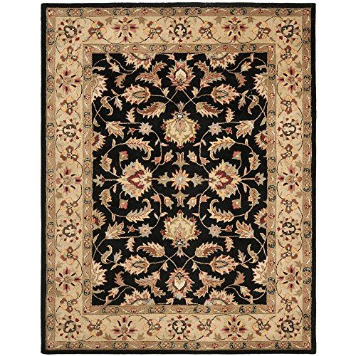 Safavieh Heritage Collection HG957A Handmade Traditional Oriental Black and Gold Wool Area Rug (6′ x 9′)