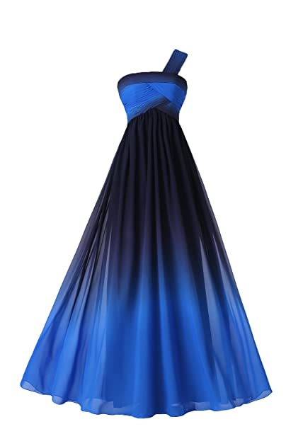 Sunvary Womens Colorful Gradient Prom Gown Long Sleeveless Chiffon
