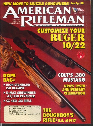 Used, AMERICAN RIFLEMAN Ruger 10/22 Colt 380 Mustang M1917 for sale  Delivered anywhere in USA