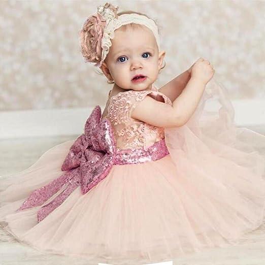 hibote Baby Mädchen Prinzessin Kleid Kinder mit Bowknot für Festzug ...