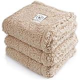 Luciphia 1 Pack 3 Blankets Fluffy Premium Fleece Pet Blanket Soft Sherpa Throw for Dog Puppy Cat