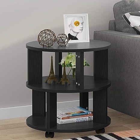 Amazon.com: Tribesigns Moderna mesa final con ruedas ...