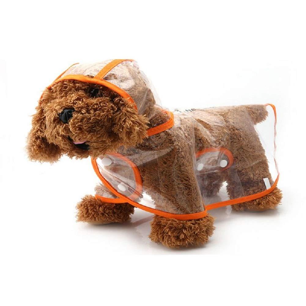 Ducomi® dogalize–Imperméable avec Capuche en Nylon Transparent pour Chien–Manteau Poncho Pluie modèle pour Chiens