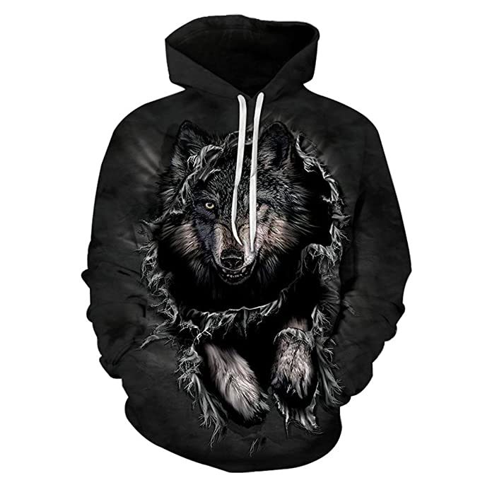 Mountain Wolf Hoodies 3D Hombres Sudadera con Capucha Pullover Cool Animal Print Chš¢ndales Unisex 6XL Outwear Boy Abrigos: Amazon.es: Ropa y accesorios