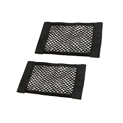 JAVOedge (2 Pack - Medium NETS Hook and Loop Adhesive Tape Storage Net Car Accessories Interior Organizer, Car/Truck/RV: Automotive