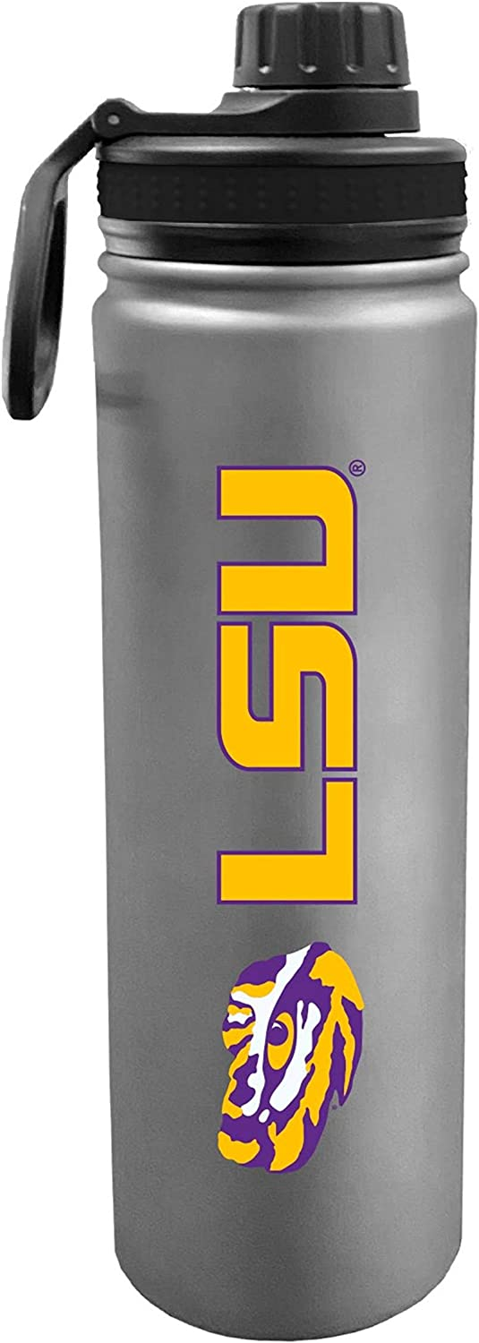 Fanatics Group 24 Ounce Stainless Steel Double Walled Beverage Bottle - College Gear for March Madness - for Office, Home & Auto - Matte Finish for Extra Grip - Limited Edition