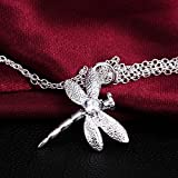 Gifts for Women Silver Plated Necklace Cubic Zirconia Exquisite Pendant Necklace for Girls