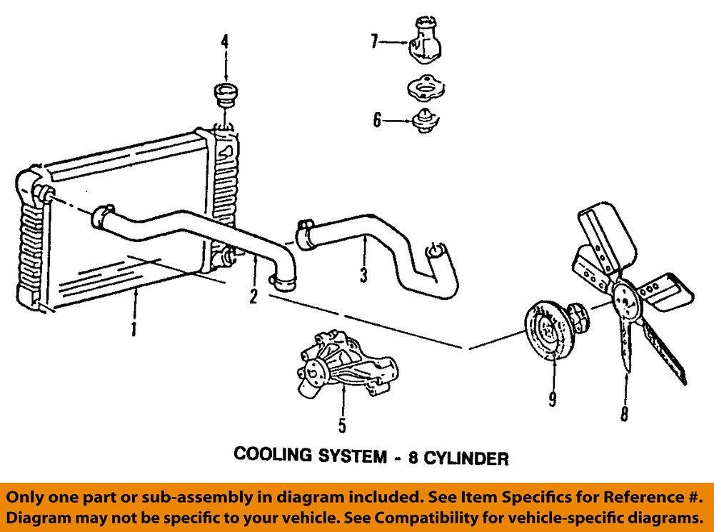amazon com general motors 12632948, engine coolant car radiator cooling system gm engine cooling diagram wiring