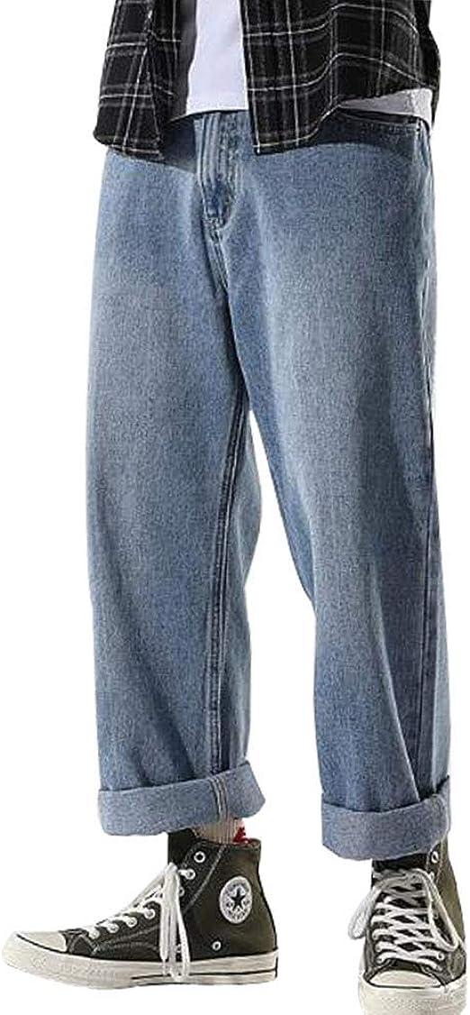 BOXUANデニムパンツ ジーンズ メンズ ストレッチ カジュアル 無地 おしゃれ ゆったり 大きサイズ