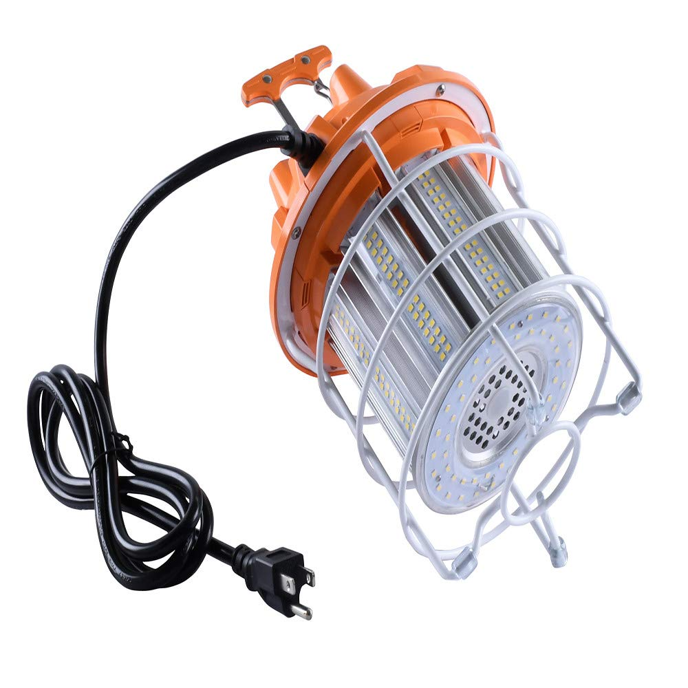 80W LED Temporary Construction Hanging Work Light Fixture 5700K Daylight 10000Lm(Ship from US!!!) (As shown)