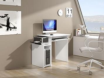 Jarod bureau 95 cm blanc multirangements fabrication européenne