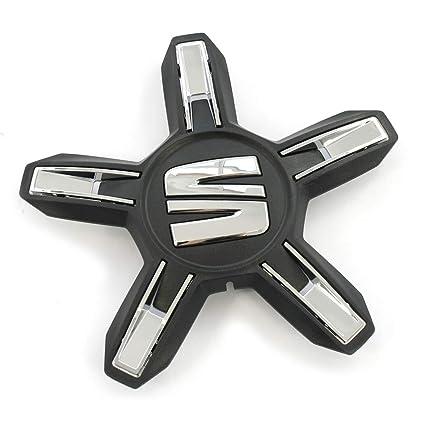 Tapacubos para Seat 6F0601149RYP (1 unidad), color negro y cromado ...