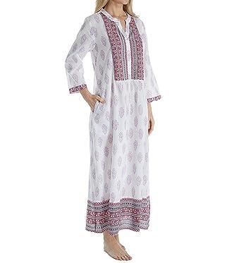 8a6986fb4a5b2b La Cera 100% Cotton Voile Caftan (3051) at Amazon Women's Clothing ...