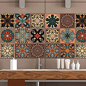 Buy World Beauty S Moroccan Tiles Pvc Waterproof Self Adhesive Wallpaper Furniture Bathroom Diy Arab Tile Sticker Online At Low Prices In India Amazon In
