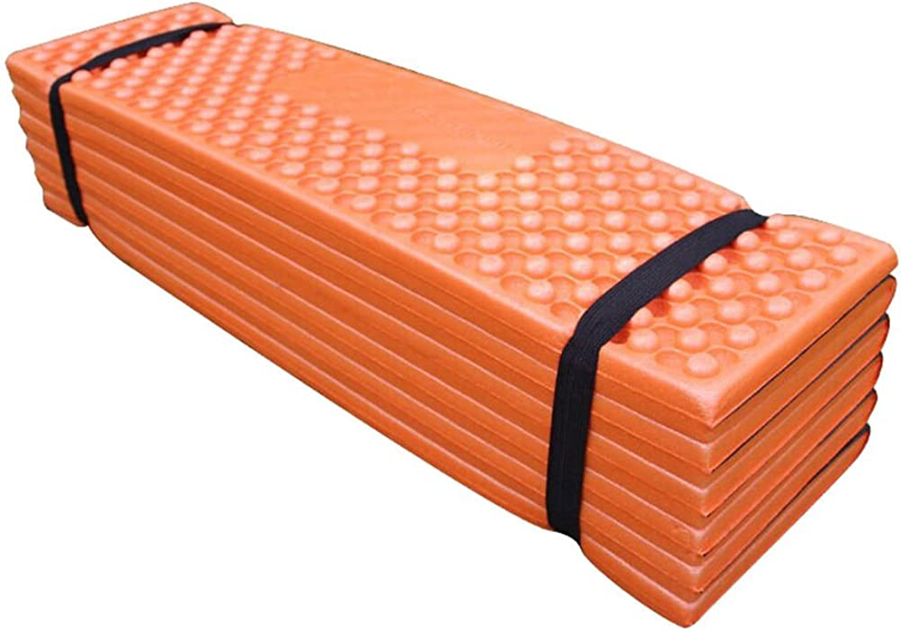 EDTara Camping Pad Ultralight Foam Outdoor Camping Mat Easy Folding Beach Tent Sleeping Pad Waterproof Mattress for Travelling Camping Hiking Orange