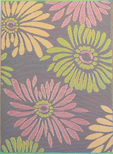 Mad Mats Daisy Indoor/Outdoor Floor Mat, 4 by 6-Feet, Violet (Outdoor Only Rugs)