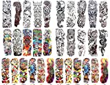 50 sheets wholesale extra large full arm sleeve tattoo 18'' extra large unique temporary tattoos
