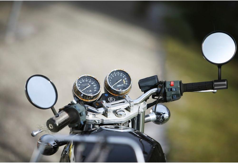 Blau R/ückspiegel Seitenspiegel,Fydun 1 Paar 7//8 Motorrad Runde Lenkerende R/ückspiegel Lenkerendenspiegel F/ür Motorr/äder Stra/ßenr/äder