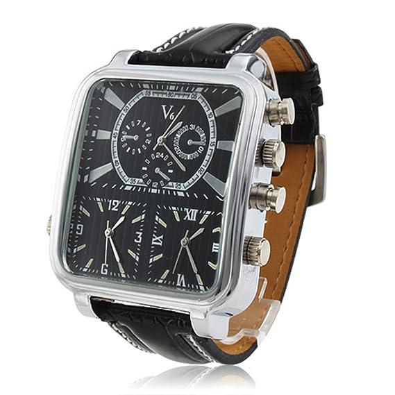 Los hombres de deportes relojes hombres marca de lujo múltiples tiempo zona Militar relojes macho Business