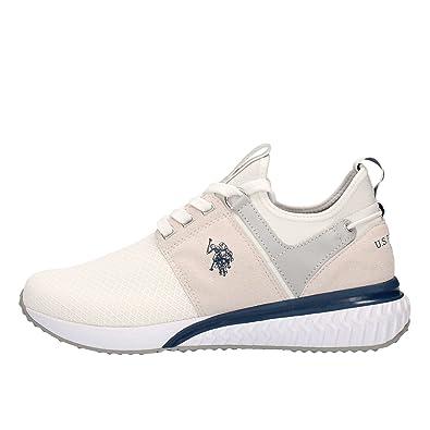 Zapatillas Sneakers Hombre U.S. Polo assn. en Tejido Mesh Blanco y ...