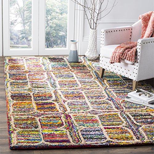 Safavieh Nantucket Collection NAN438A Handmade Abstract Multicolored Cotton Area Rug (4