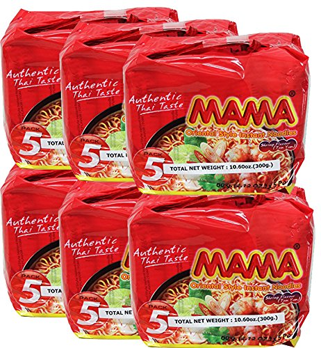 - MAMA Oriental Style Instant Noodles - Shrimp (Tom Yum) Flavor 2.12 oz/60g (30 Packs)