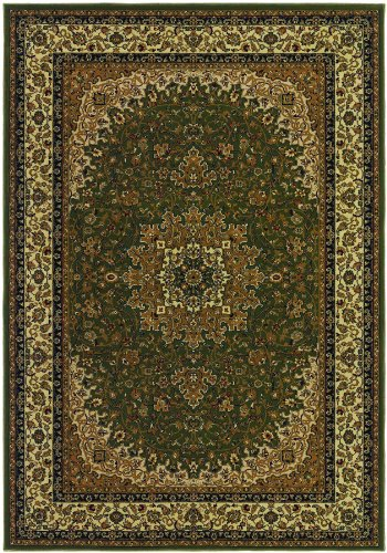 (Couristan Izmir Royal Kashan Green Area Rug, 9'2