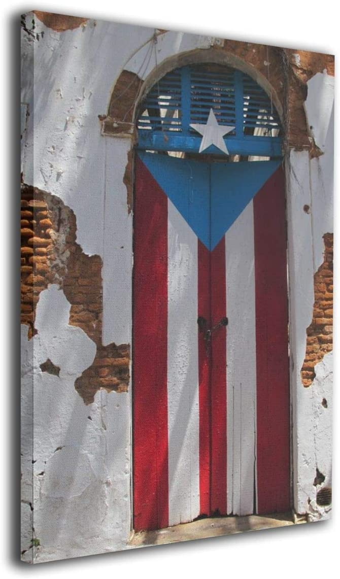 "Yanghl 16""x20"" Canvas Wall Art Puerto Rico Doors of Old San Juan Colorful Doors Modern Decorative Artwork for Home Decor"