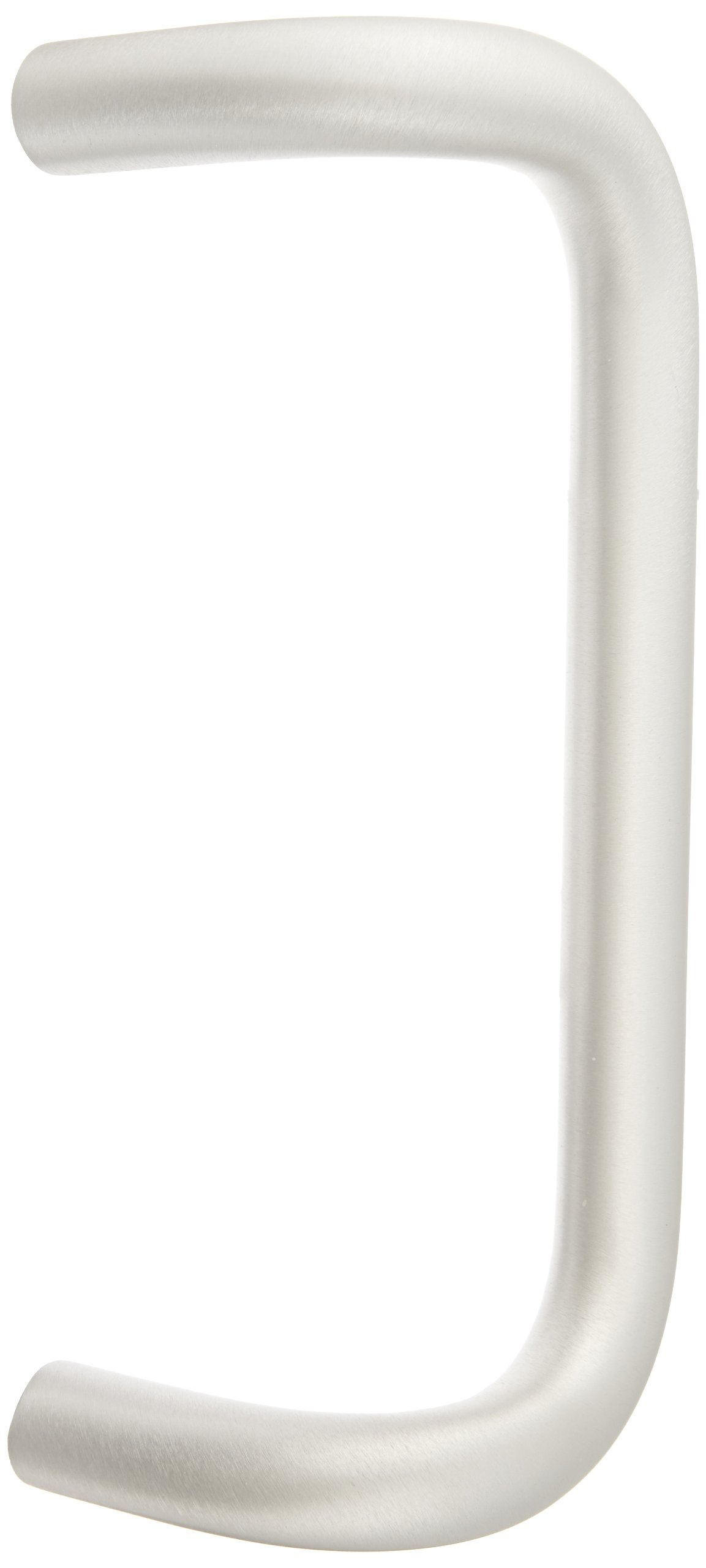 Rockwood BF157C17.28 Aluminum 90-Degree Offset Door Pull, 1'' Diameter x 10'' Center-to-Center, Concealed Mounting for 1-3/4'' Door, Clear Anodized Finish