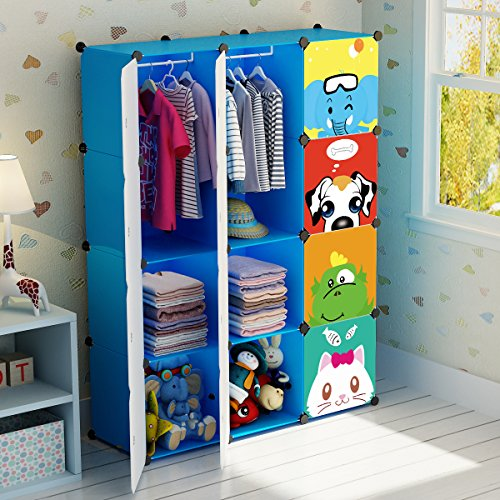 Cute baby closet or nursery closet idea when you don't HAVE a closet in the baby's room! Cute for toddlers too!