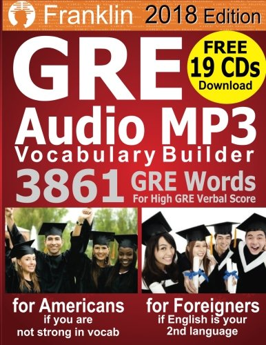 2018 Franklin GRE Audio MP3 Vocabulary Builder: Download 19 CDs with 3861 GRE Words For High GRE Verbal Score