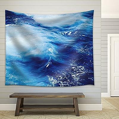 Closeup of Blue Ocean Fabric Wall Medium