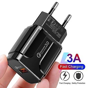 18W] USB Quick Charger 3.0, Cargador rápido de Pared para ...