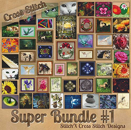 StitchX Cross Stitch Counted Cross Stitch Patterns, Super Bu