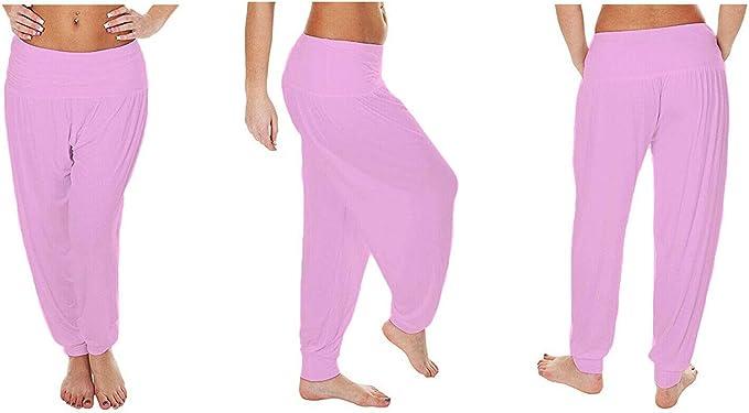 RSVH WAB Womens Ali Baba Full Harem Plain Leopard Aztec Print Trousers Pants