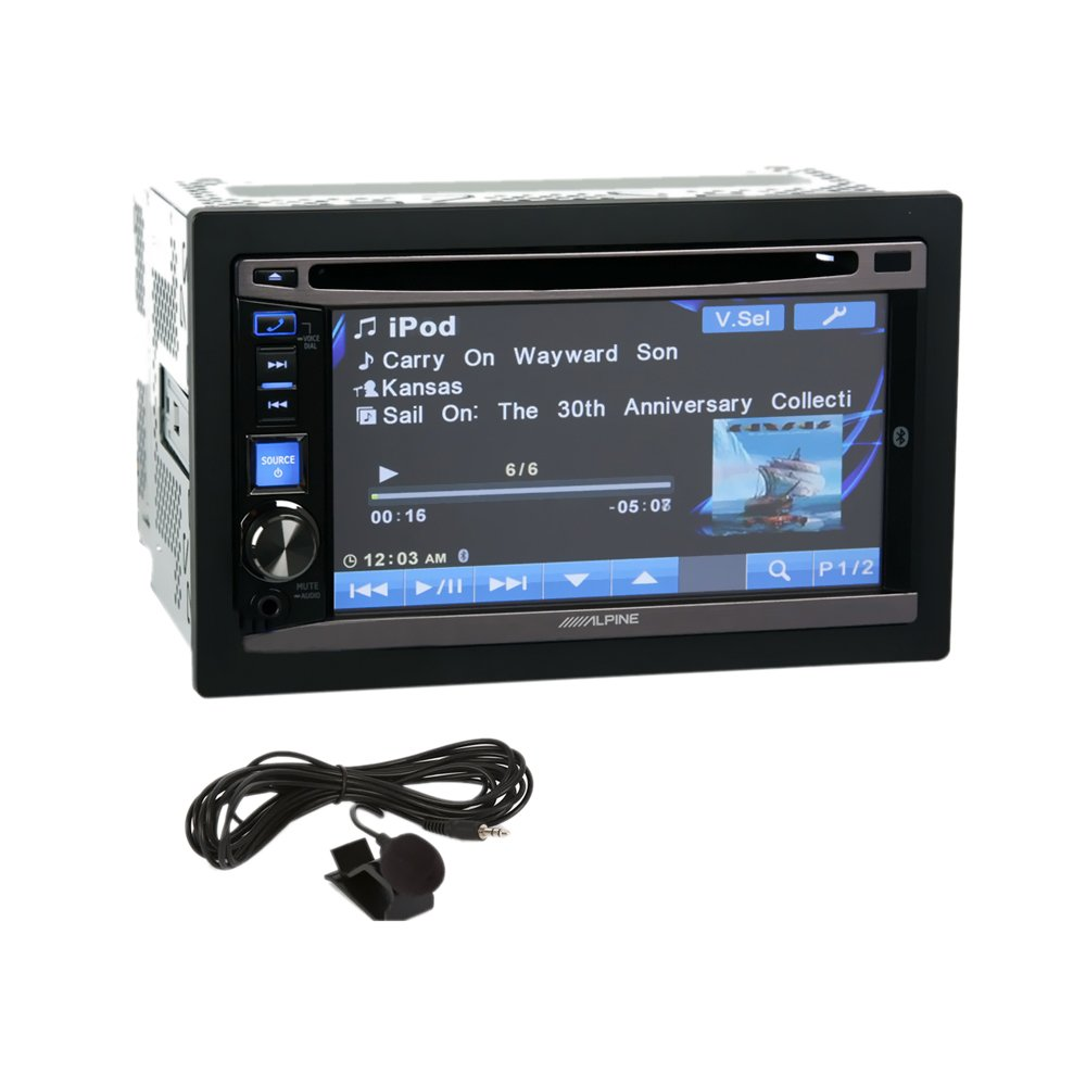61XRMC9dQwL._SL1000_ amazon com alpine double din in dash dvd receiver with bluetooth alpine ive-w530 wiring harness at creativeand.co