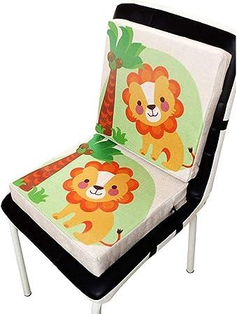 Lifesongs Coussin De Siège Portable Bébé Rehausseur Chaise Enfant Bébé Nouveau Lin Imprimé Coussin De Piano