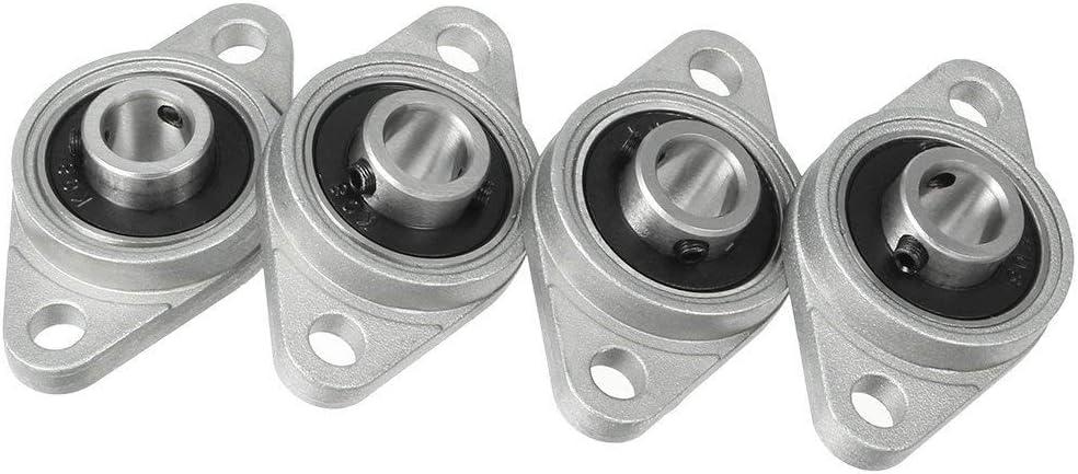 ARCELI 4 unids KFL08 8 mm Aleación de Zinc de alineación automática cojinete de Brida del cojinete