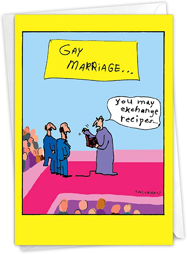 Veiled Wooing Gay Wedding Collage Greeting Card