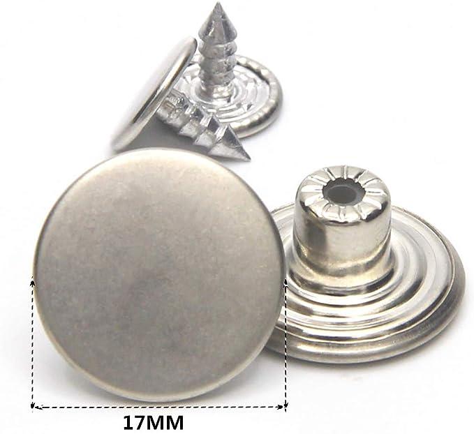 Style-1 WA Pack de 100/Jean Tack de bronce antiguo botones de Metal//botones con perlas para manualidades de costura Ropa Da metal