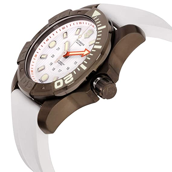 Amazon.com: Victorinox Dive Master 500 White Dial Silicone Strap Mens Watch 2415561: Victorinox Swiss Army: Watches