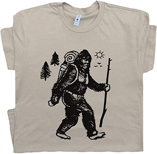 Big Men/'s Long Sleeve T-shirt funny Sasquatch Bigfoot tee shirt men plus size