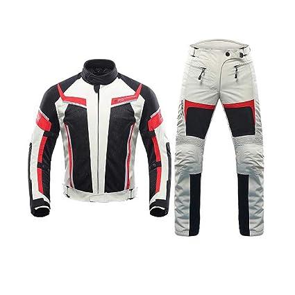 ANTLEP 2 Piezas Traje de Moto Chaqueta + Pantalón de ...