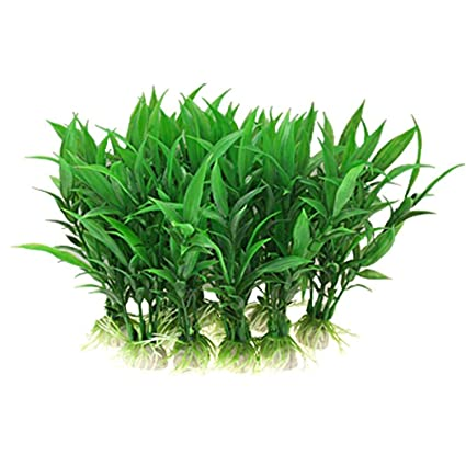 Cadiyo - Plantas Artificiales no tóxicas para Acuario, Color Verde